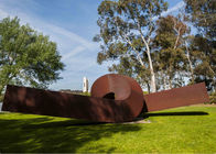 Porcellana Twisted Shape Large Decor Corten Steel Metal Garden Art Sculpture fabbrica